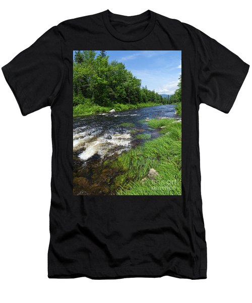 Quill Pond Brook Near Rangeley Maine  -70748 Men's T-Shirt (Athletic Fit)
