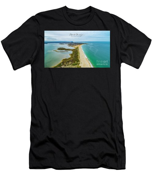 Quonochontaug Beach Men's T-Shirt (Athletic Fit)