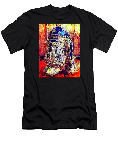 Men's T-Shirt (Athletic Fit) featuring the mixed media R2 - D2 by Al Matra