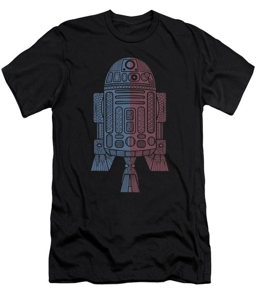 R2d2 - Star Wars Art - Blue, Red Men's T-Shirt (Athletic Fit)