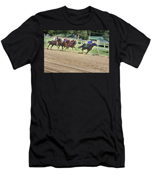 Race Horses In Motion Men's T-Shirt (Athletic Fit)
