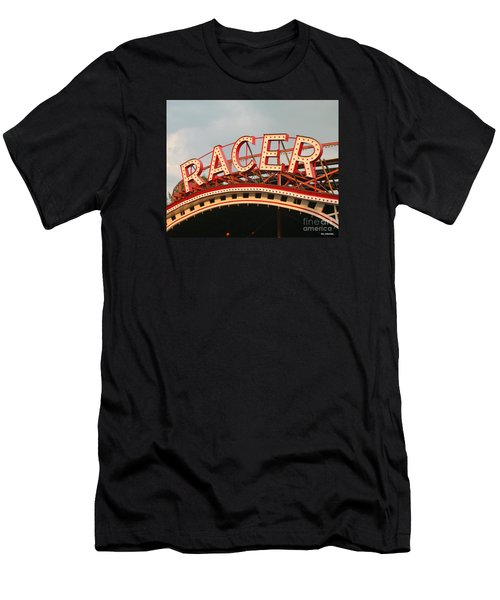 Racer Coaster Kennywood Park Men's T-Shirt (Athletic Fit)