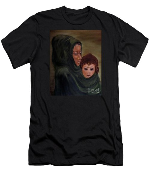 Men's T-Shirt (Slim Fit) featuring the painting Rachel And Joseph by Annemeet Hasidi- van der Leij