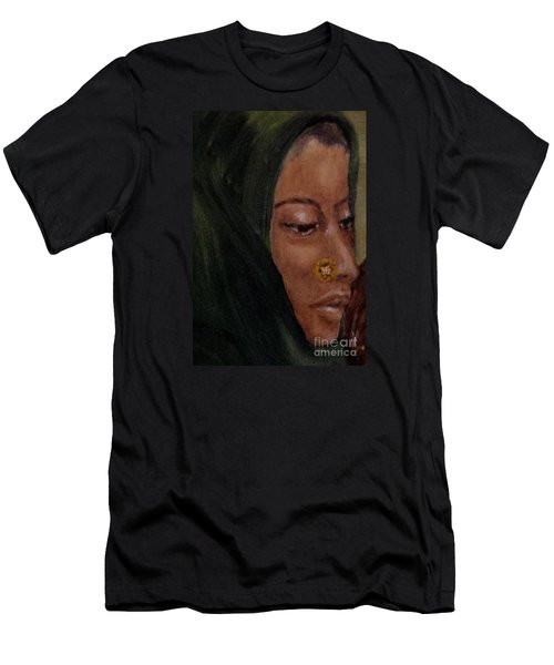 Men's T-Shirt (Slim Fit) featuring the painting Rachel by Annemeet Hasidi- van der Leij