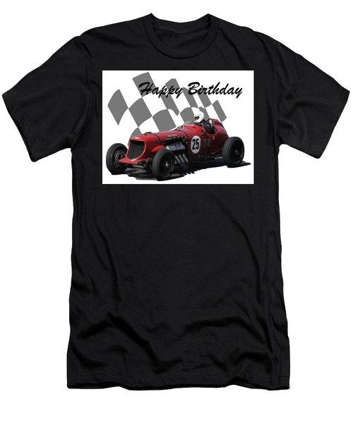 Racing Car Birthday Card 3 Men's T-Shirt (Athletic Fit)