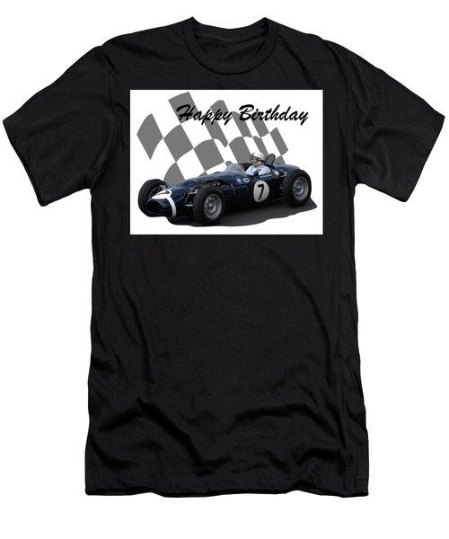 Racing Car Birthday Card 8 Men's T-Shirt (Athletic Fit)