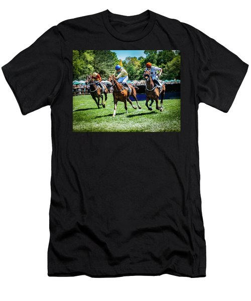 Racing Down The Stretch Men's T-Shirt (Athletic Fit)