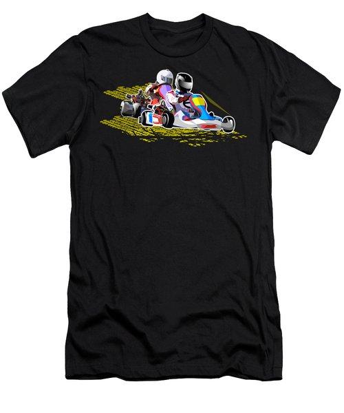 Racing Go Kart Men's T-Shirt (Athletic Fit)