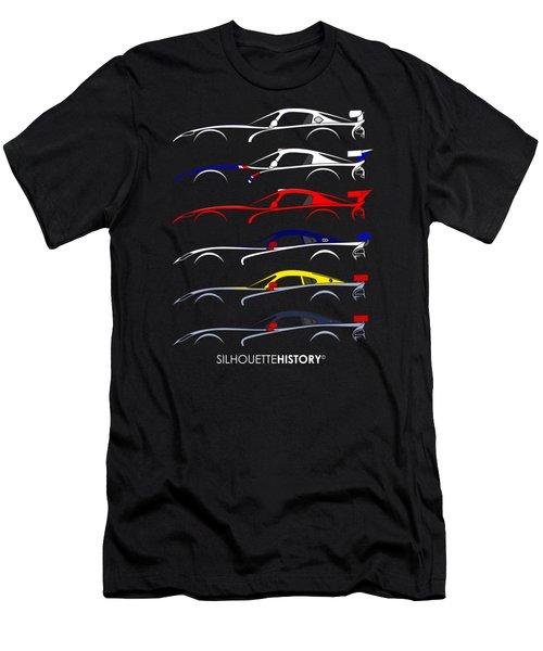 Racing Snake Silhouettehistory Men's T-Shirt (Slim Fit) by Gabor Vida