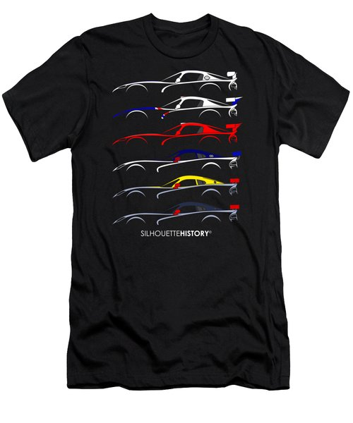 Racing Snake Silhouettehistory Men's T-Shirt (Athletic Fit)