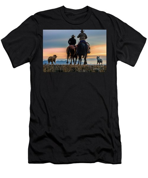 Racing To The Sun Wild West Photography Art By Kaylyn Franks Men's T-Shirt (Athletic Fit)