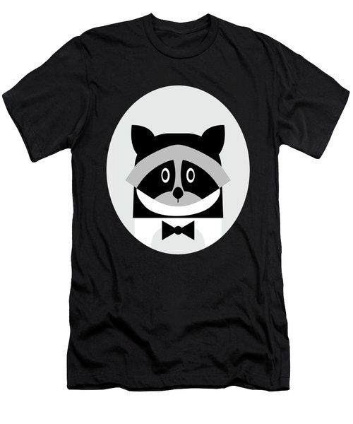 Racoon Bw Men's T-Shirt (Athletic Fit)