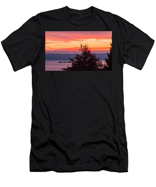 Men's T-Shirt (Slim Fit) featuring the photograph Radiance At Sunrise by E Faithe Lester