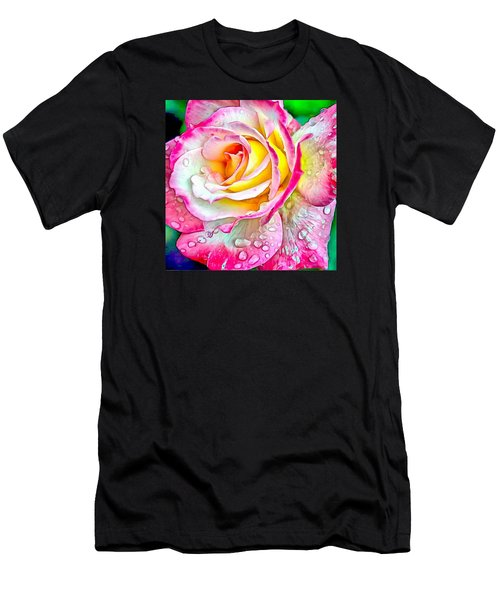 Radiant Rose Of Peace Men's T-Shirt (Athletic Fit)