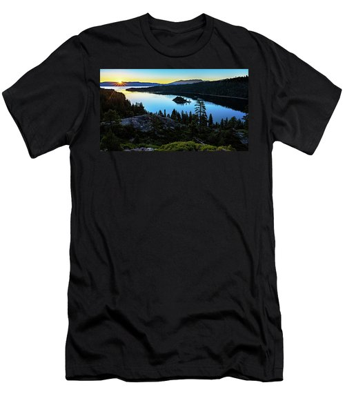 Men's T-Shirt (Athletic Fit) featuring the photograph Radiant Sunrise On Emerald Bay by John Hight