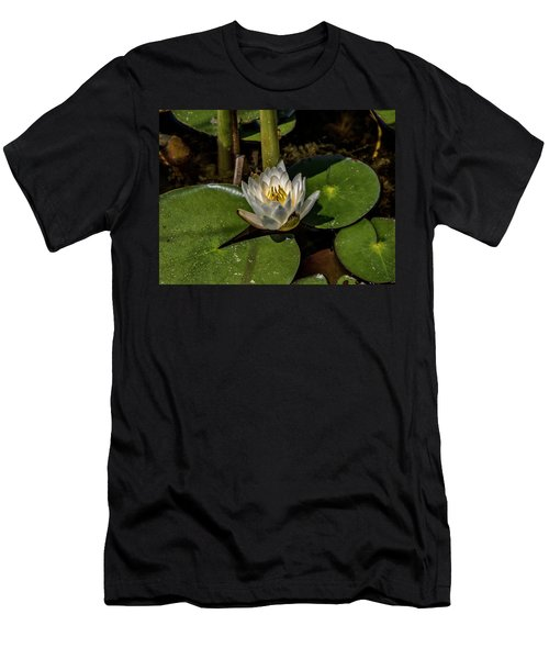 Radiant White Pond Lily  Men's T-Shirt (Athletic Fit)