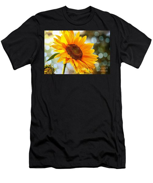 Radiant Yellow Sunflower Men's T-Shirt (Athletic Fit)