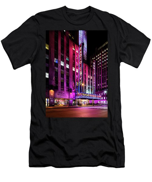 Men's T-Shirt (Athletic Fit) featuring the photograph Radio City Music Hall by M G Whittingham