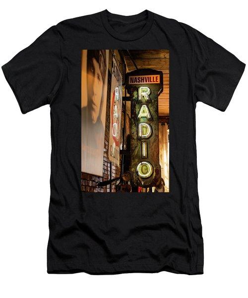 Radio Nashville Sign Men's T-Shirt (Athletic Fit)