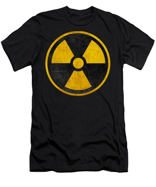Vintage Distressed Nuclear War Fallout Shelter Sign Men's T-Shirt (Athletic Fit)