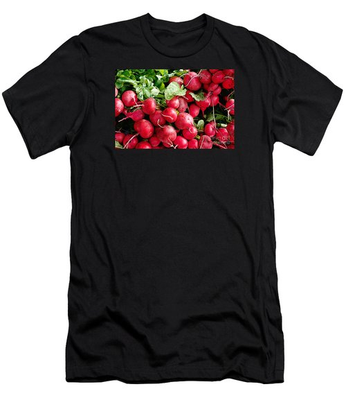Men's T-Shirt (Slim Fit) featuring the digital art Radishes 1 by David Blank