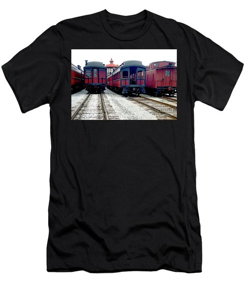 Men's T-Shirt (Slim Fit) featuring the photograph Rail Stock by Paul W Faust - Impressions of Light
