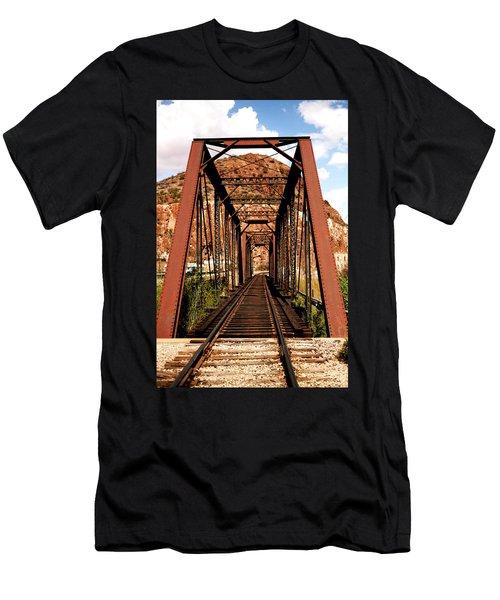 Railroad Bridge Men's T-Shirt (Athletic Fit)