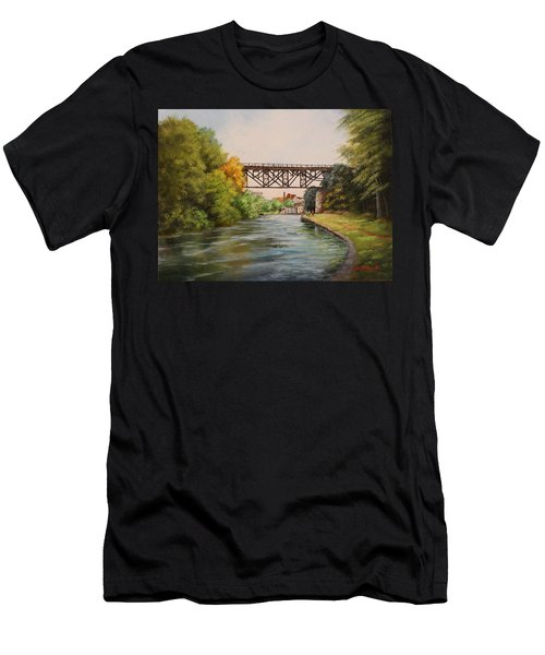Railroad Bridge Over Erie Canal Men's T-Shirt (Athletic Fit)