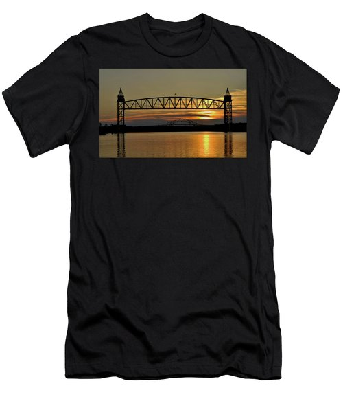 Railroad Bridge Over The Canal Men's T-Shirt (Athletic Fit)