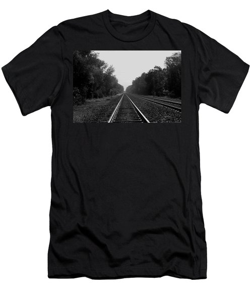 Railroad To Nowhere Men's T-Shirt (Athletic Fit)