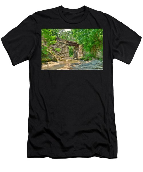 Railroad Tracks At Buttermilk/homewood Falls Men's T-Shirt (Athletic Fit)