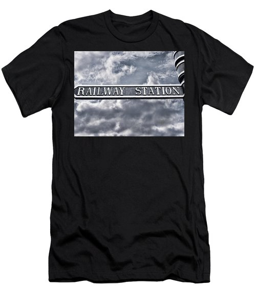 Railway Station Men's T-Shirt (Athletic Fit)