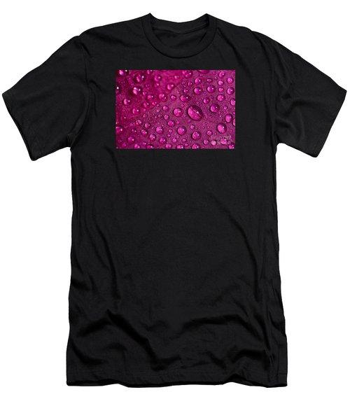 Rain And Bougainvillea Petals Men's T-Shirt (Athletic Fit)