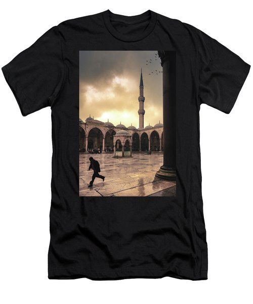 Rain At The Blue Mosque Men's T-Shirt (Athletic Fit)
