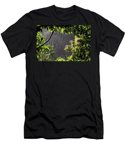 Men's T-Shirt (Slim Fit) featuring the photograph Rain by Bruno Spagnolo