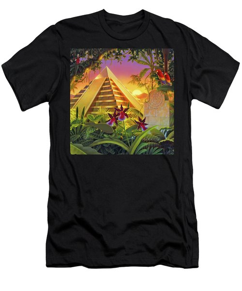 Rain Forest Pyramid  Men's T-Shirt (Athletic Fit)