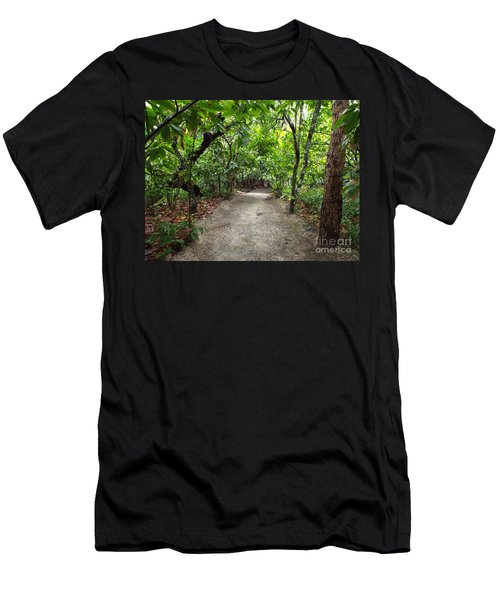 Men's T-Shirt (Athletic Fit) featuring the photograph Rain Forest Road by Barbara Von Pagel
