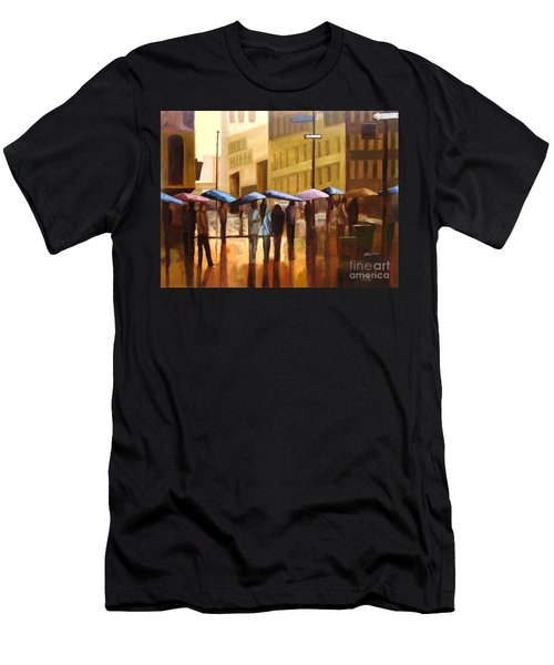 Rain In Manhattan Number Seventeen Men's T-Shirt (Athletic Fit)