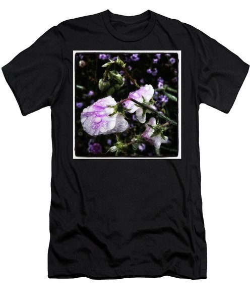 Men's T-Shirt (Athletic Fit) featuring the photograph Rain Kissed Petals. This Flower Art by Mr Photojimsf