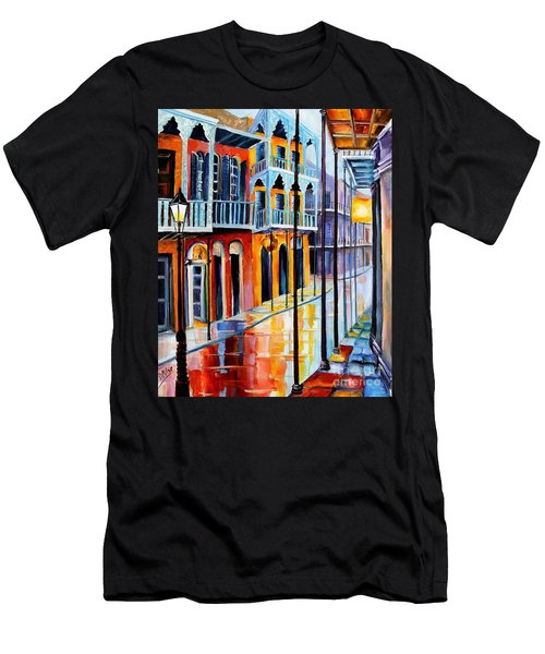 Rain On Royal Street Men's T-Shirt (Athletic Fit)
