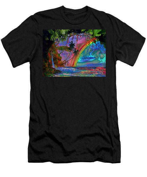 Rainboow Drenched In Layers Men's T-Shirt (Athletic Fit)