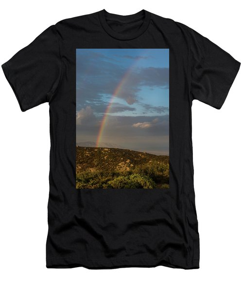 Rainbow Above Lagunas Men's T-Shirt (Athletic Fit)