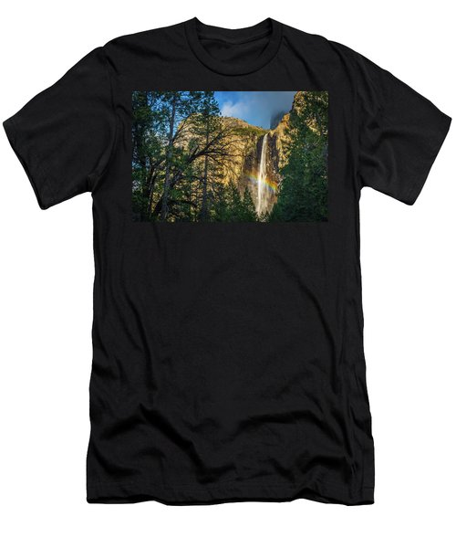 Rainbow And Bridalveil Fall Men's T-Shirt (Athletic Fit)