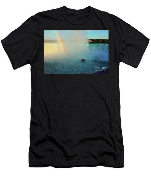 Rainbow At Horseshoe Falls Men's T-Shirt (Athletic Fit)