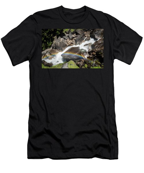 Rainbow At Vernal Falls- Men's T-Shirt (Athletic Fit)