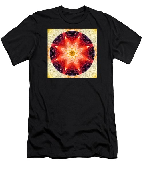 Rainbow Burst Mandala Men's T-Shirt (Athletic Fit)