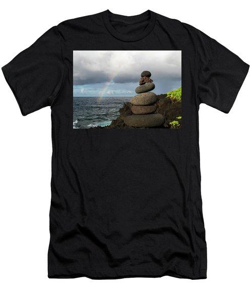 Rainbow Cairn Men's T-Shirt (Athletic Fit)