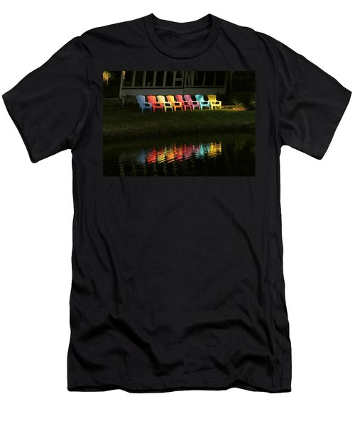 Rainbow Chairs  Men's T-Shirt (Athletic Fit)