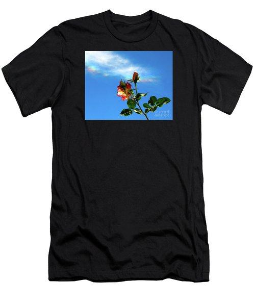 Rainbow Cloud And Sunlit Roses Men's T-Shirt (Athletic Fit)