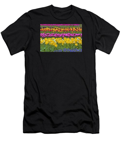 Rainbow Flowers Men's T-Shirt (Athletic Fit)